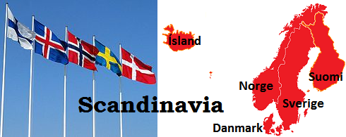 Scandinavian Flags and Maps
