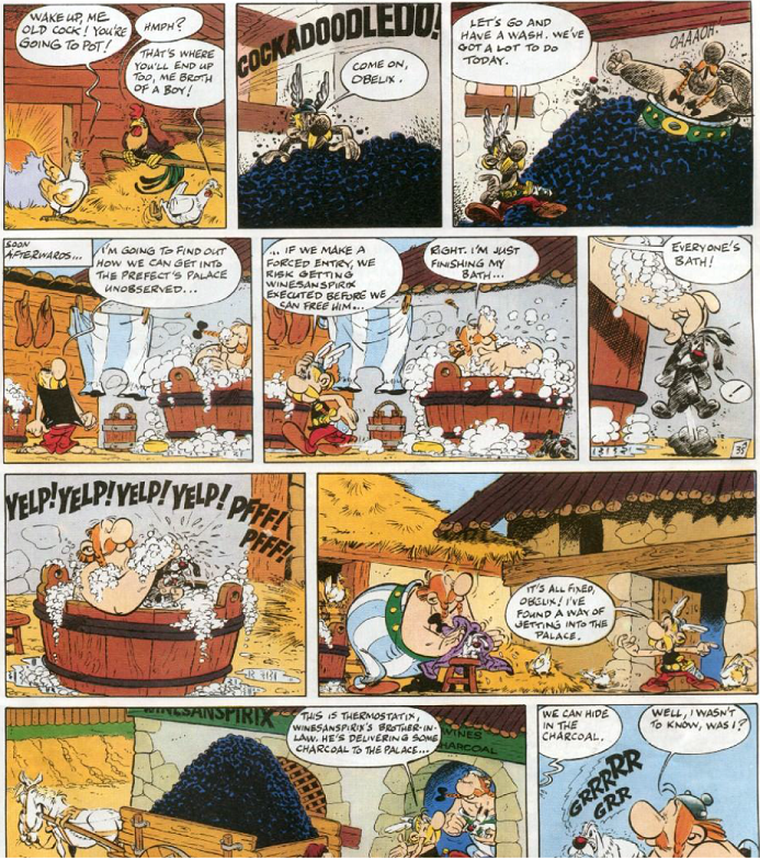 Asterix and the Chieftain's Shield - The charcoal