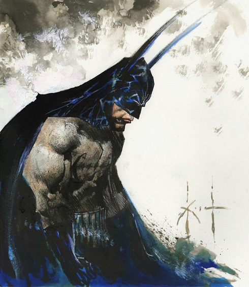 Sam Kieth, panting of The Batman