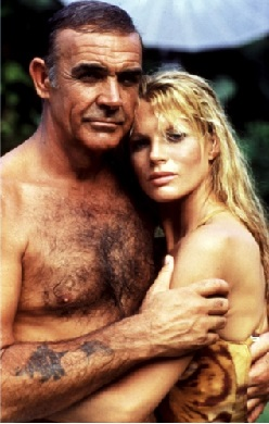 Sean Connery and Kim Basinger in Never Say Never Again