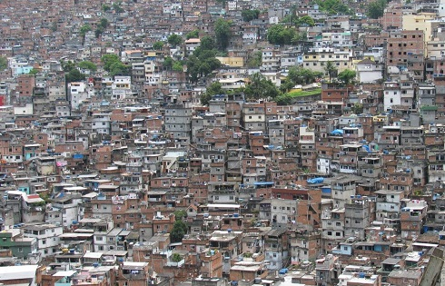 Crowded Favela in Brazil