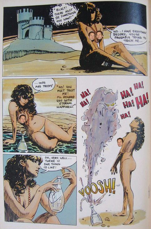 "Bruce Jones Fantasy comic book story ""Stopped"" part 4"