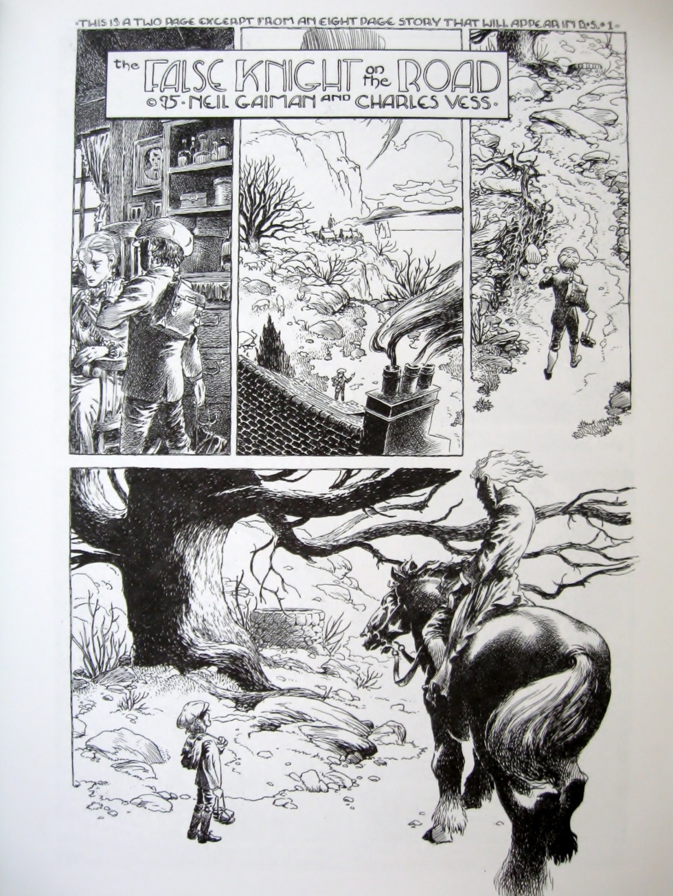 Charles Vess Book of Ballads and Sagas Promo booklet #1
