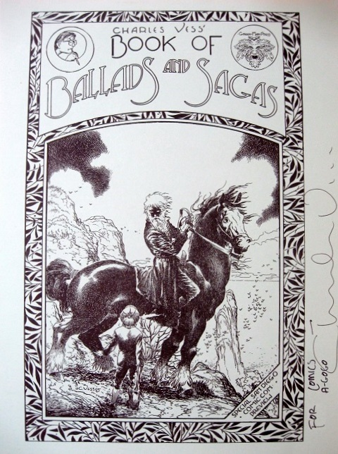 Charles Vess Book of Ballads and Sagas Promo booklet cover