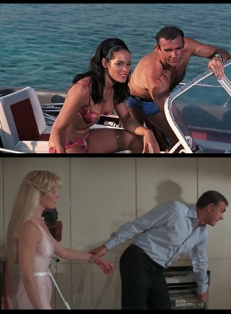 Claudine Auger and Kim Basinger, Domino in Thunderball and Never Say Never Again