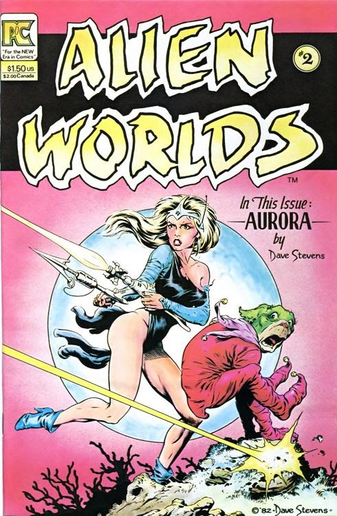Dave Stevens Alien Worlds #2 cover art, sexy Aurora