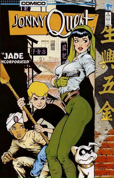 Dave Stevens cover art for Jonny Quest