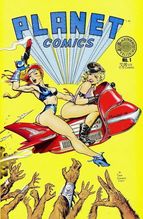 Dave Stevens art for Planet Comics, sexy girls