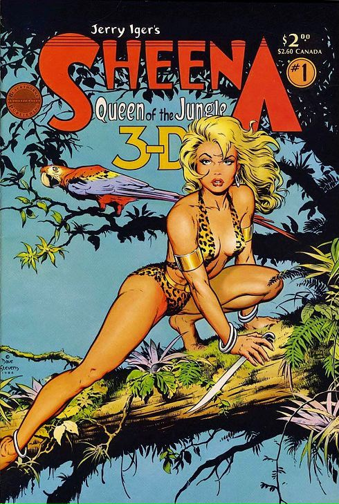 Dave Stevens cover for Sheena, Queen of the Jungle 3-D comic book