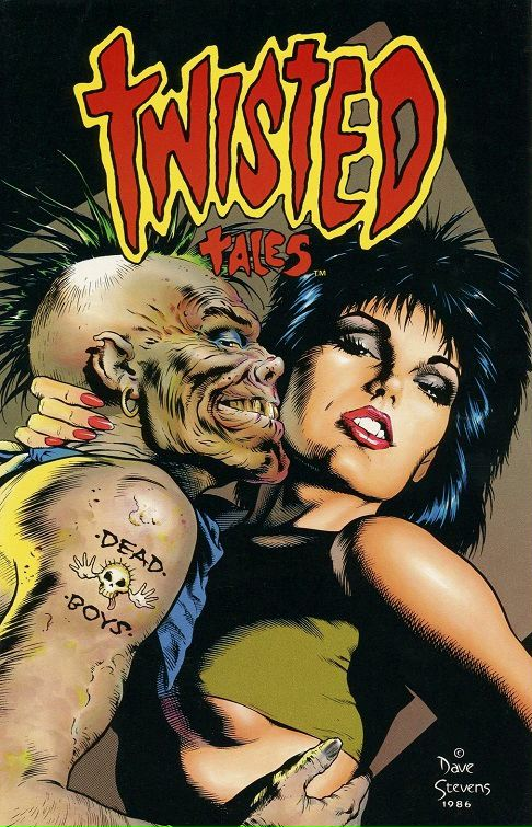Dave Stevens cover to Eclipse Comics Twisted Tales trade paperback