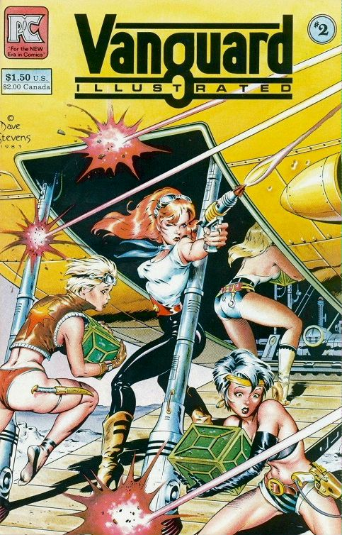 Dave Stevens cover art for Vanguard Illustratged #2, sexy pirates