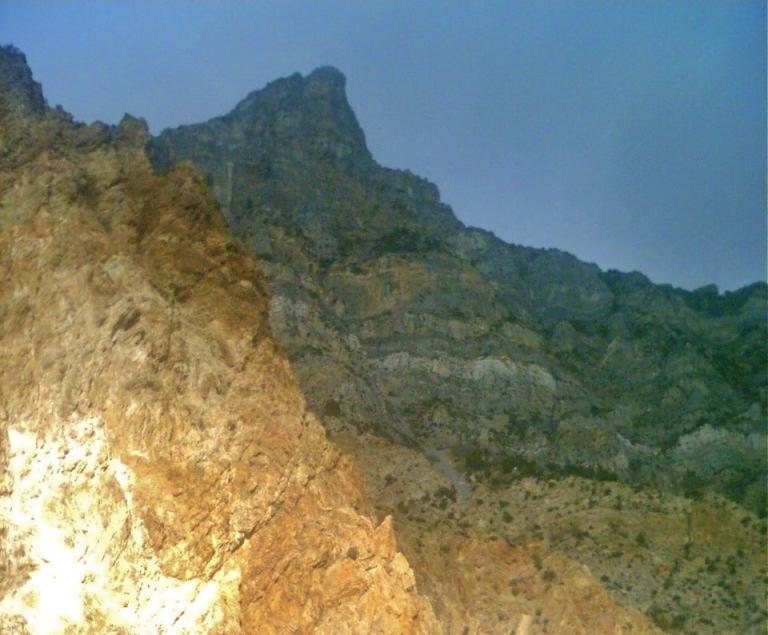 Hiking up a mountain