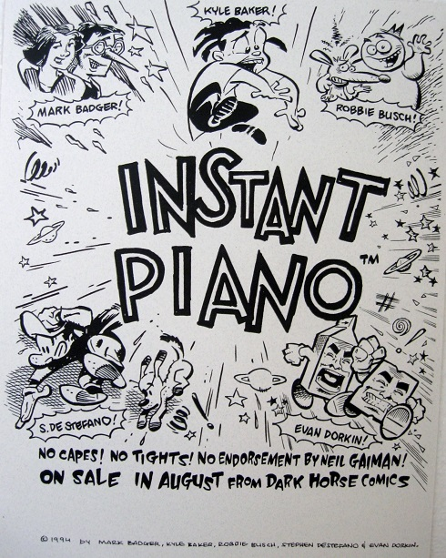 Instant Piano Comic Book Anthology Promo Sheet