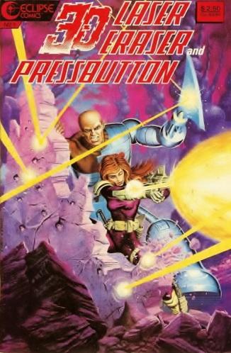 Laser Eraser and Pressbutton 3-D Comic Book