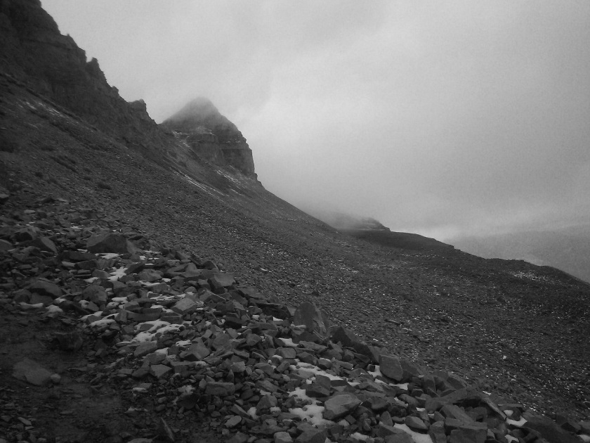 Mountain Clouds in Black and White