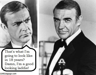 Sean Connery in Thunderball and Never Say Never Again