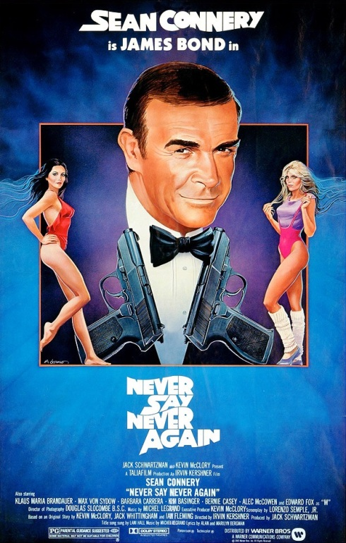 James Bond Never Say Never Again Movie Poster