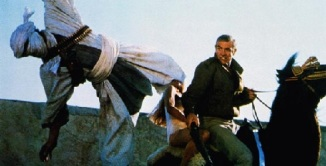 James Bond and Domino Patachi, action scene in Never Say Never Again