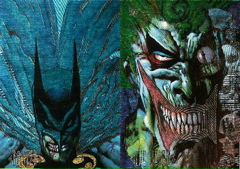 Batman Master Series DS2 Trading Card from Skybox, Batman and Joker by Simon Bisley