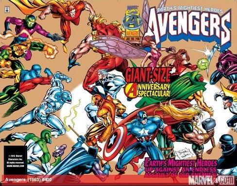 Avengers #400 wraparound cover