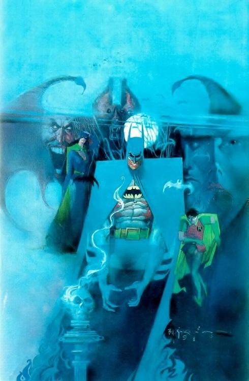 Cover art for Batman 400 by Bill Sienkiewicz