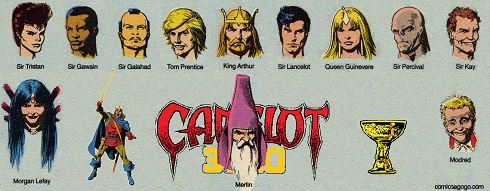 Characters from the Comic Book Series, Camelot 3000