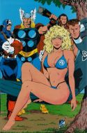 Marvel Fanfare Pinup: Captain America, Thor, Invisible Woman, Mr. Fantastic by Jackson Guice