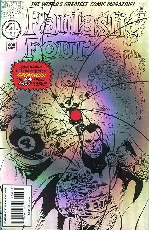 Fantastic Four #400, prismatic foil cover