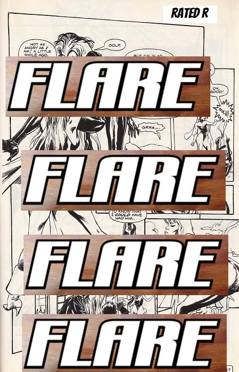 Flare, sex and violence in comics