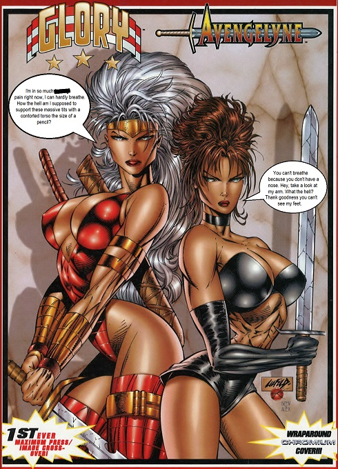 Glory and Avengelyne by Rob Liefeld