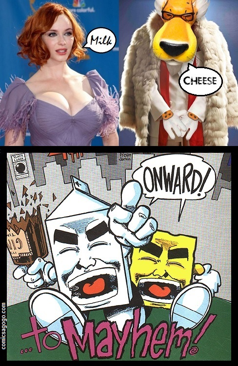 Milk and Cheese comic book characters, Black Humor