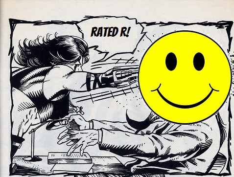 Razor, female violence in comic books