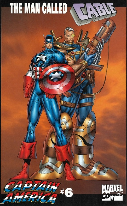 Captain America and Cable by Rob Liefeld