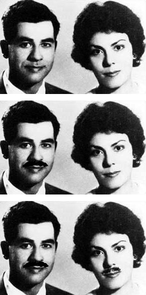Early photos of Saddam Hussein and Sajida Talfah