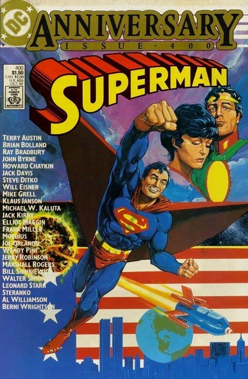 Superman #400: Anniversary issue cover by Howard Chaykin