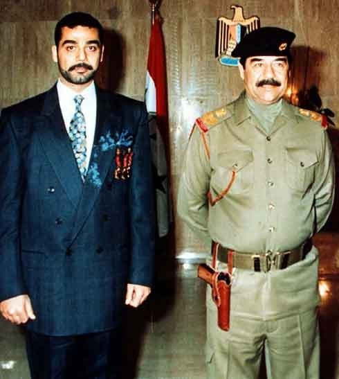 Saddam and Uday Hussein