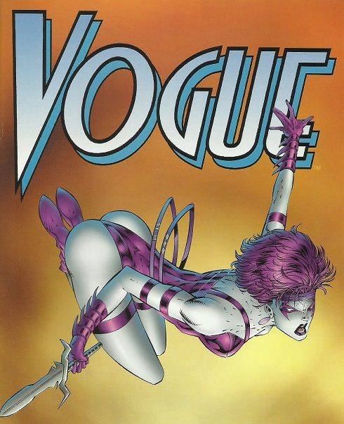 Vogue comic book character by Rob Liefeld