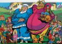 Marvel Fanfare Pinup: Volstagg and family by Bogdanove and Milgram