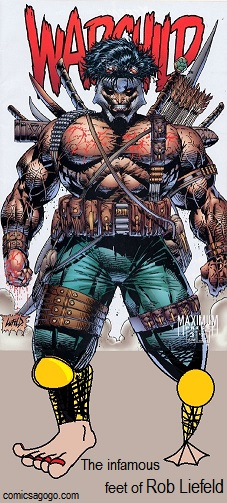 Warchild by Rob Liefeld, poorly drawn feet