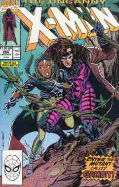Uncanny X-Men comic book cover #268 (First Gambit)