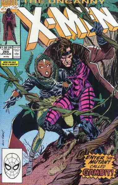 Uncanny X-Men comic book cover #268 (First Gambit)