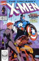 Uncanny X-Men comic book cover #268 (Captain America, Wolverine, Black Widow story)