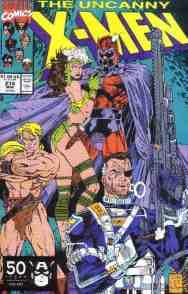 Uncanny X-Men comic book cover #274 (Nick Fury, Magneto)