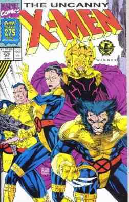 Uncanny X-Men comic book cover #275 (Giant Size)