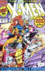 Uncanny X-Men comic book cover #281 (New team)