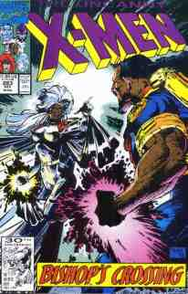 Uncanny X-Men comic book cover #283 (first full Bishop)