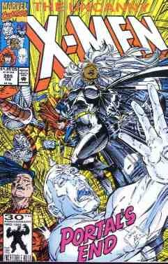 Uncanny X-Men comic book cover #285