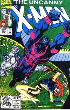 Uncanny X-Men comic book cover #286