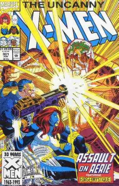 Uncanny X-Men comic book cover #301