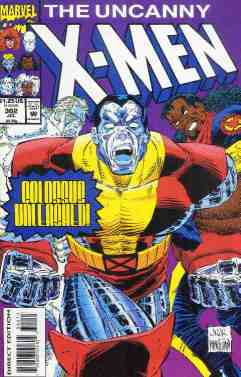 Uncanny X-Men comic book cover #302
